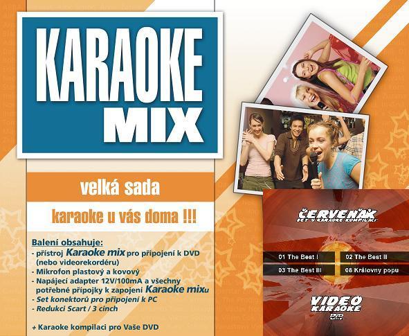 Karaoke maxi set - Cenově zvýhodněná sada 4 VCD a Karaoke mixu - velké sady.