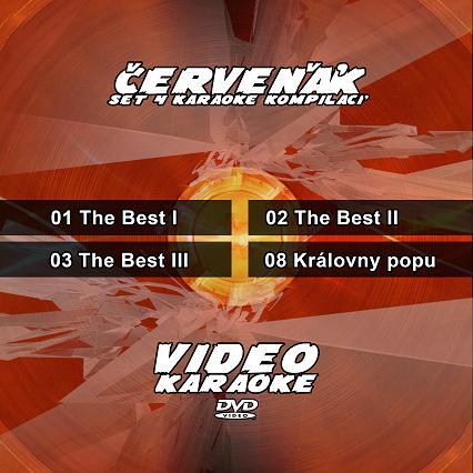 Set 4 karaoke DVD - Červeňák - Nejúspěšnější karaoke DVD na jednom nosiči.