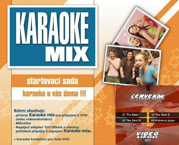 Karaoke vyhodná nabídka - letáková akce - V rámci naší letákové akce jsme připravili speciální cenu na DVD set 4 kompilací - Červeňák a Karaoke mix-startovací sadu.